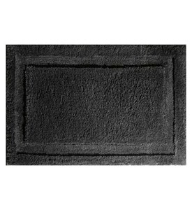 Microfiber Bathroom Rug - Black Image