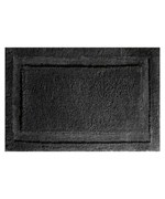 Microfiber Bathroom Rug - Black