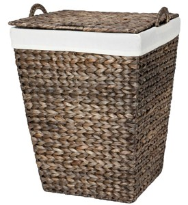 Woven Laundry Hamper - Water Hyacinth Image
