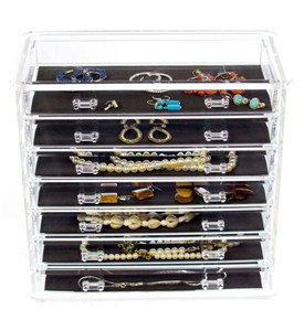 Seven-Drawer Acrylic Jewelry Chest Image