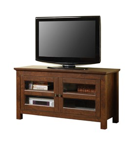 44 Inch Wood TV Stand with Glass Doors by Walker Edison Image