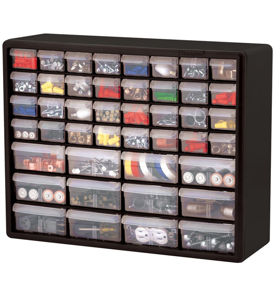 44 drawer storage chest in small parts storage - Organizing nuts and bolts ...