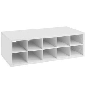 Double Hang Big O-Box Cubby Unit - White Image