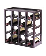 16-Bottle Slotted Wine Rack