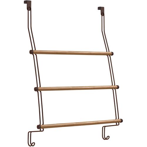 Interdesign Bamboo Over The Door Towel Rack In Over The Door Towel Racks