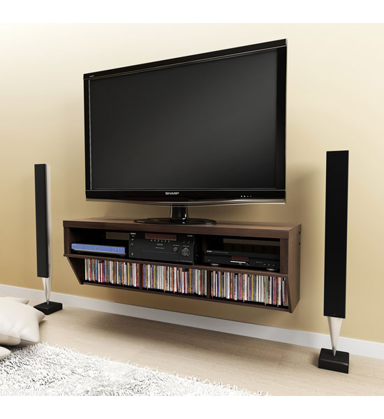 Espresso tv stand and entertainment console in tv stands for Muebles de acuario