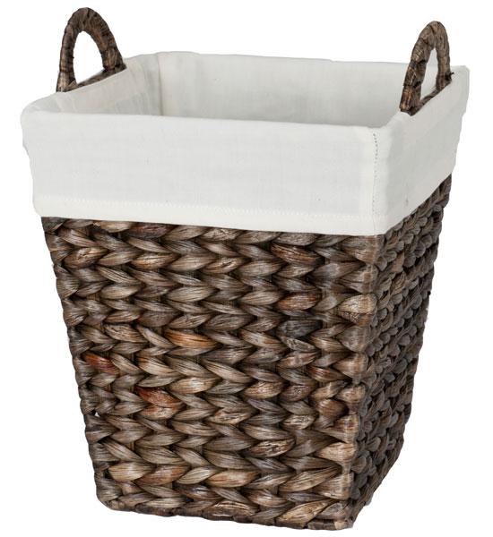 Hand-Woven Wastebasket - Water Hyacinth