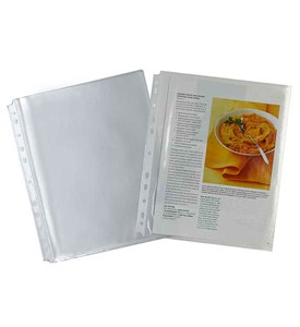 Full Page Recipe Sheet Protectors Image
