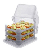 Plastic Cake and Cupcake Carrier - Clear