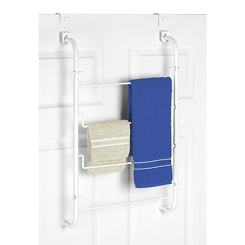 Over The Door Towel Rack   White