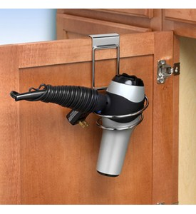 Over the Cabinet Hair Dryer Holder Image