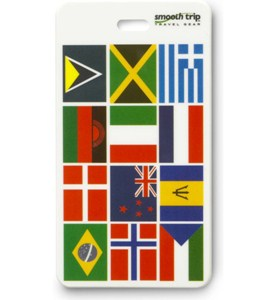 International Flag Luggage Tag Image
