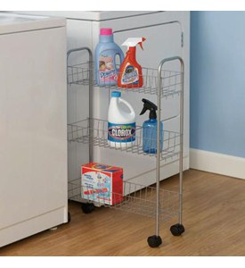 Rolling Laundry Room Storage Cart Image