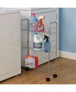 Rolling Laundry Room Storage Cart