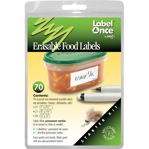 Jokari Erasable Food Storage Container Labels (Set of 70