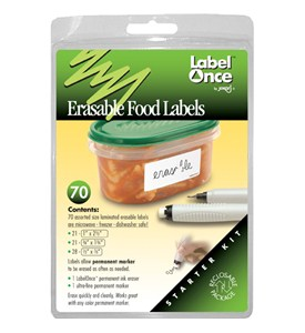 Jokari Erasable Food Storage Container Labels (Set of 70) Image