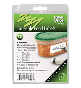 Jokari Erasable Food Container Label Refills (Set of 70) Image