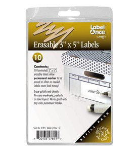 Jokari Erasable 3 x 5 Inch Labels - Refills (Set of 10) Image