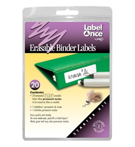 Jokari Erasable Binder Labels - Starter Kit (Set of 20) Image