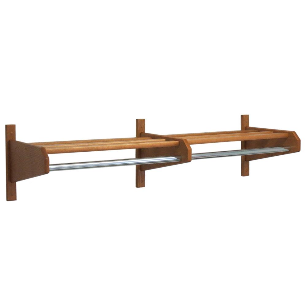 coat rack 48 inches oak in wall coat racks. Black Bedroom Furniture Sets. Home Design Ideas