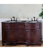 Colonial Cherry Double Sink Traditional Wood Vanity by Bellaterra Home