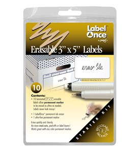 Jokari Erasable 3 x 5 Inch Labels - Starter Kit (Set of 10) Image