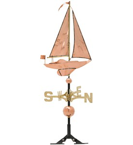 49 Inch Roof Weathervane - Sailboat Image