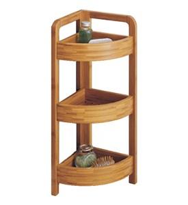 Bamboo Corner Shelf 3 Tier In Free Standing Shelves