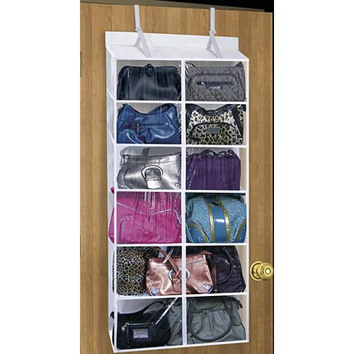 6 Pocket Over The Door Purse Organizer Image