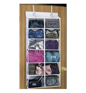 6 Pocket Over the Door Purse Organizer Image