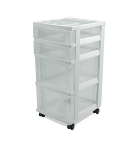 Plastic Storage Chest with 4 Drawers Image