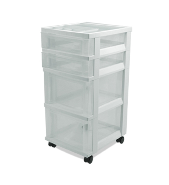 Plastic Storage Chest With 4 Drawers Price: $28.99