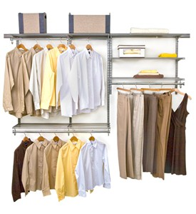 freedomRail Closet Storage - Nickel Image