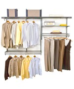 freedomRail Closet Storage - Nickel