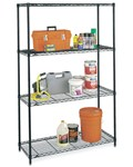 Large InterMetro Four-Shelf Unit - Black