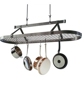 5 Foot Oval Hanging Pot Rack Image