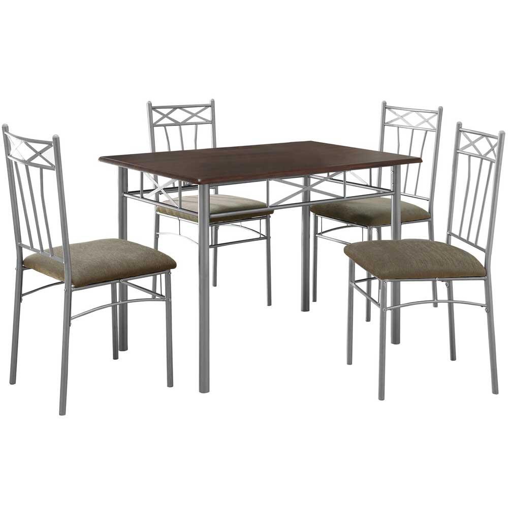 5 Piece Metal Dining Set In Dinette Sets