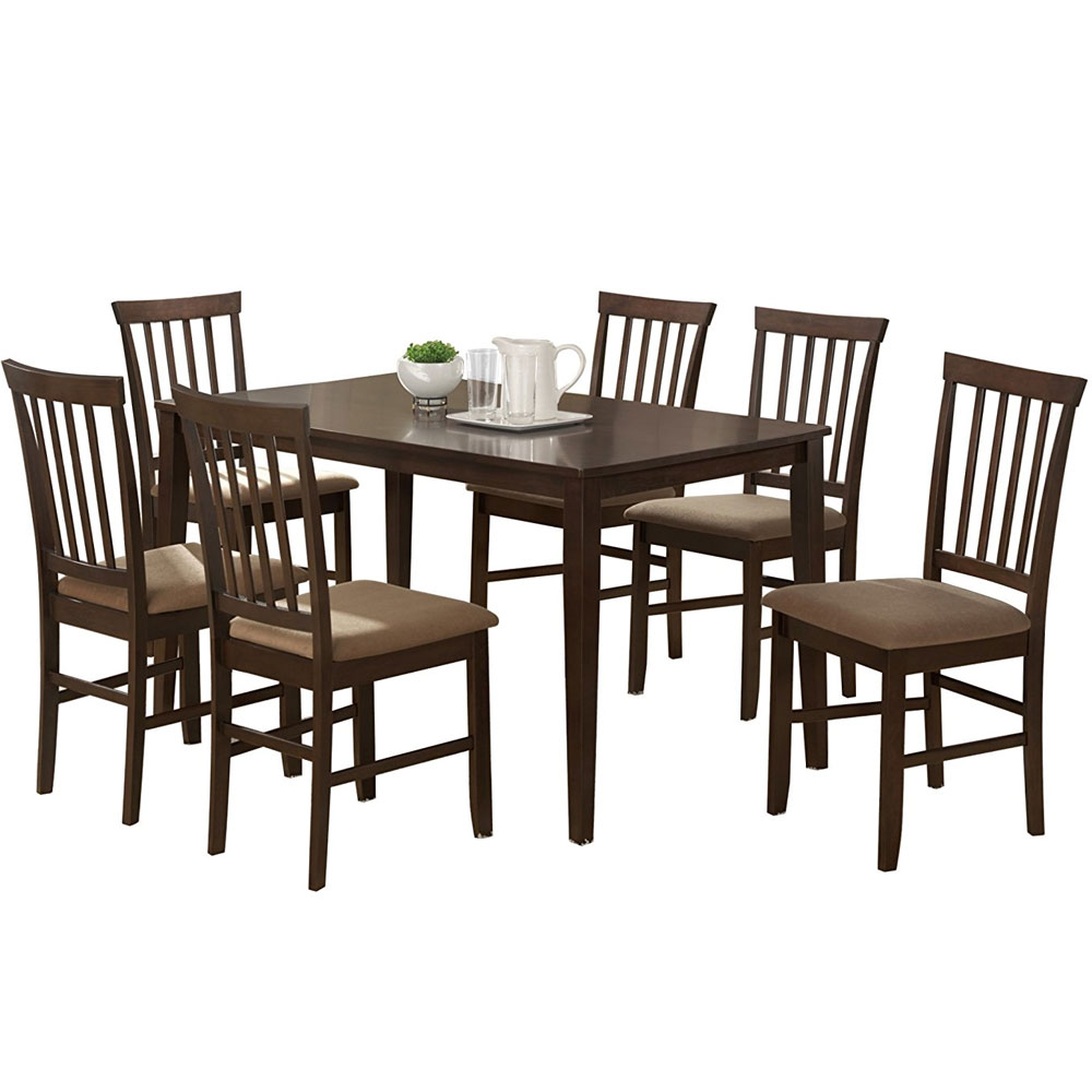 Tiffany 5 piece modern dining set in dinette sets for Contemporary dining set