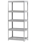 5-Shelf Treadplate Steel Shelving by Edsal Manufacturing