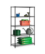 5 Tier Black Urban Adjustable Shelving by Honey Can Do