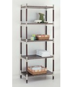 5 Tier Wood And Chrome Shelving Unit Price 298 99
