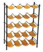 5 Tier Wicker Wine Rack