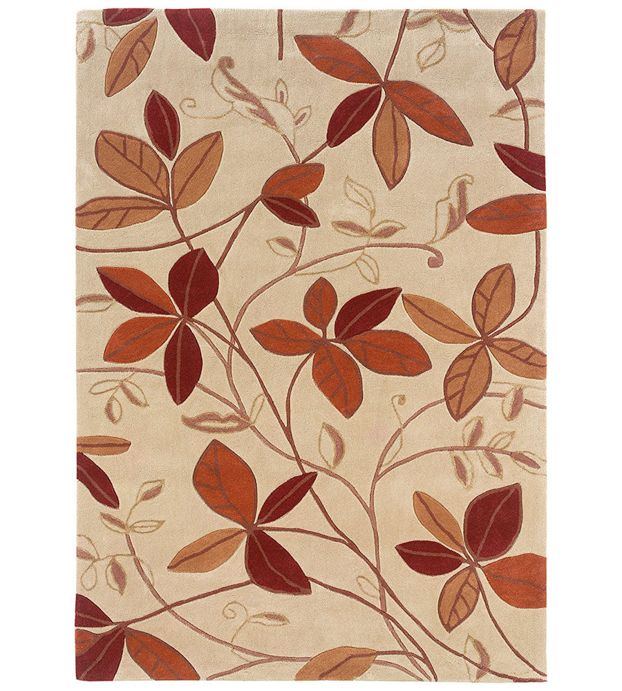 5 X 7 Trio Collection Leaf Area Rug In Patterned Rugs