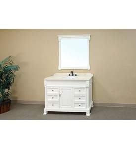 50 Inch Oversized Traditional Single Sink Vanity Wood by Bellaterra Home Image