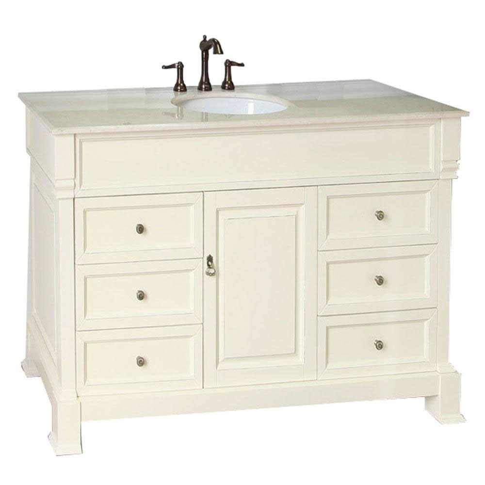 50 Inch Traditional Single Sink Vanity In Bathroom Vanities