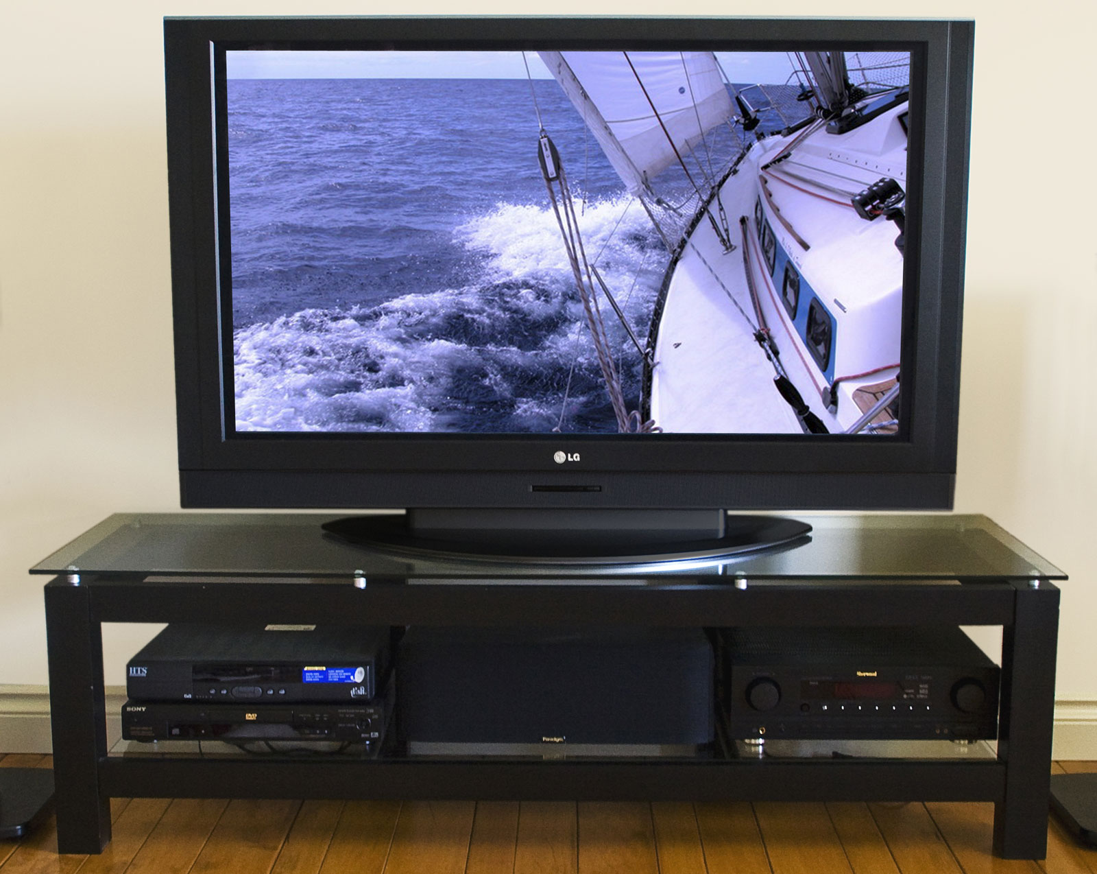 50 Inch Entertainment Center Part - 49: 50 Inch Low Profile Flat Screen TV Stand - Glass Shelf Price: $353.99