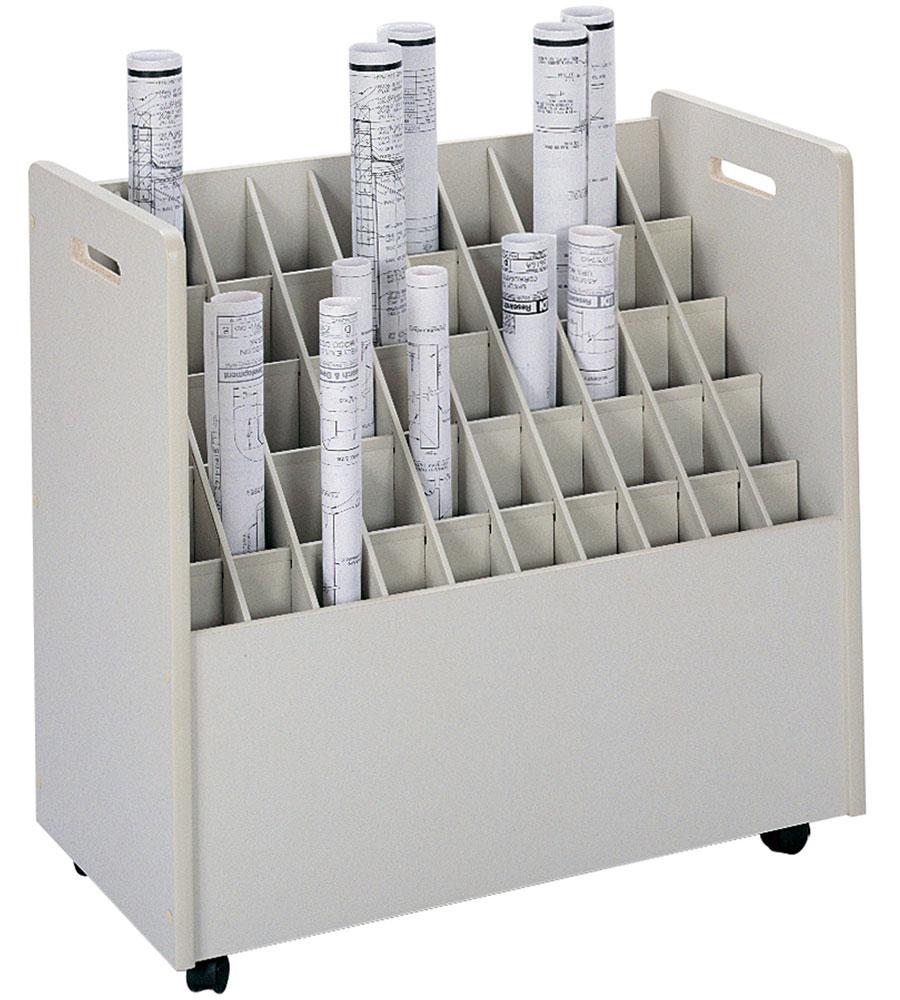 50 Section Blueprint Organizer In Storage