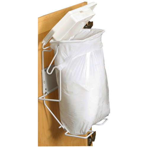 Combathroom Trash Bags : Rack Sack Bathroom Trash Can System in Cabinet Trash Cans