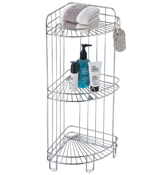 Corner Shower Caddy   Stainless Steel Image