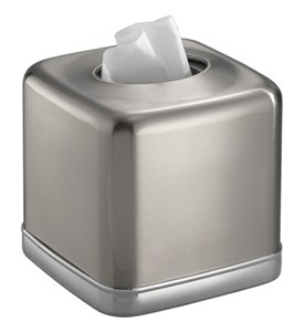 York Stainless Tissue Box Cover Image